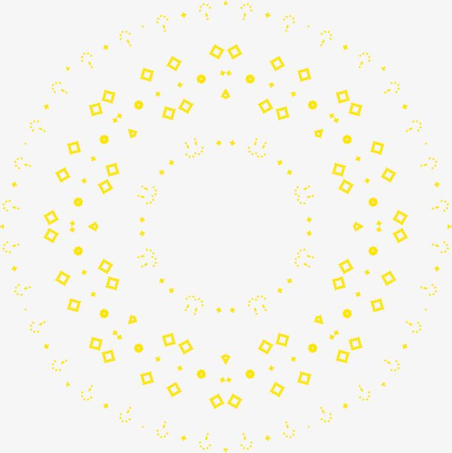 图片 > 【png】 黄色花纹圆圈  分类:边框纹理 类目:其他 格式:png