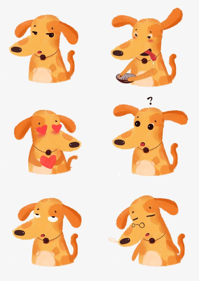 手绘狗狗表情包
