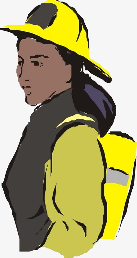 手绘消防员