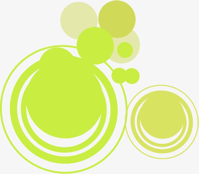 小清新多彩圆圈