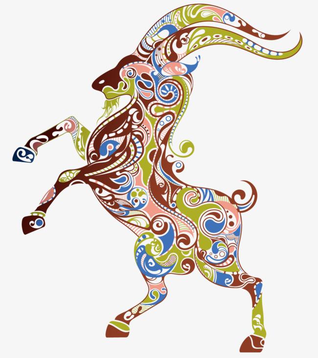 抽象创意花纹动物