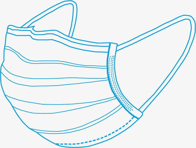 图片 线条动感 > 【png】 手绘线条口罩  分类:手绘动漫 类目:其他 格