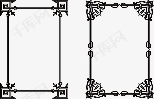 手绘卡通黑线框素材图片免费下载 高清psd 千库网 图片编号8995177