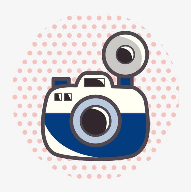 手绘卡通照相机摄像头图标