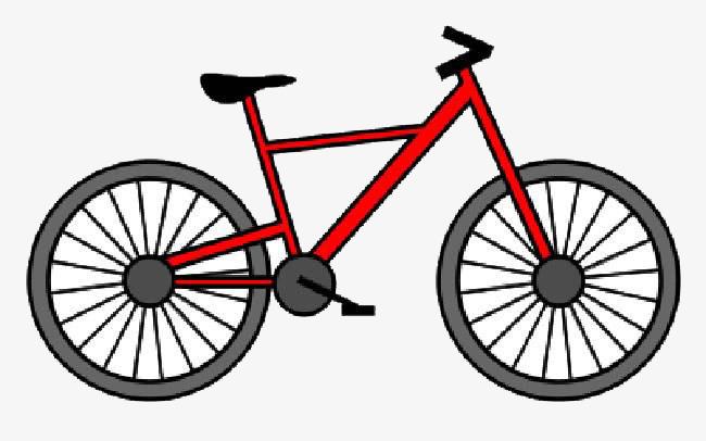 酷炫自行车简笔画