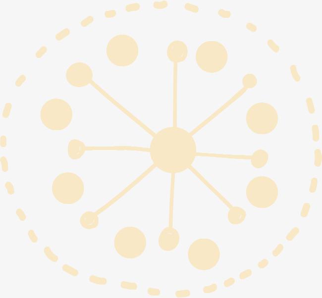 小清新黄色圆圈