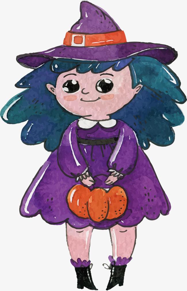 可爱手绘女巫