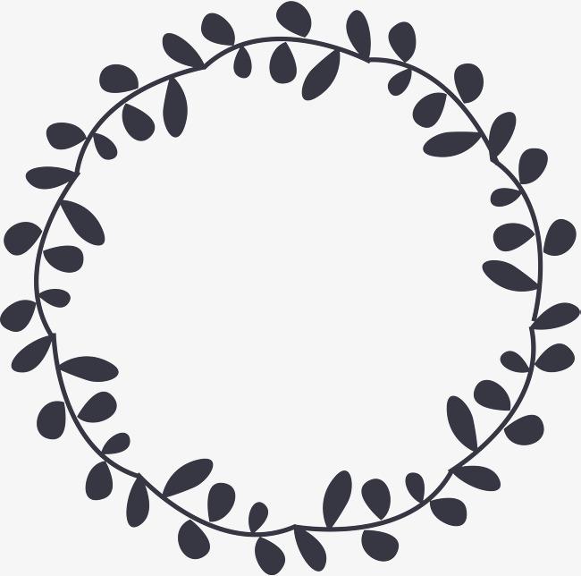 小清新叶子圆圈