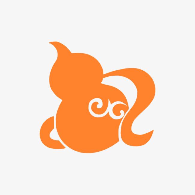 葫芦 橘黄色 手绘 矢量图 装饰 png装饰 png图形             此素材
