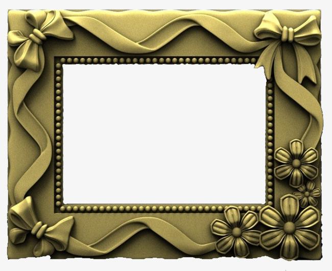 金绿色欧式吊顶边框装饰