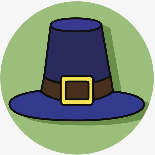 圆形蓝色魔法帽子图标_png素材免费下载_ 1024*1024