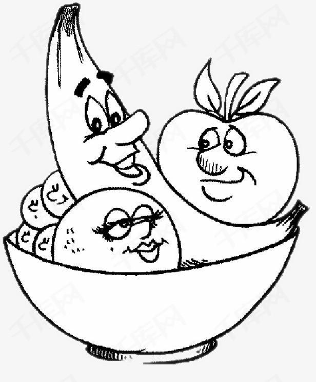 果盘怎么好看易学_水果简笔画