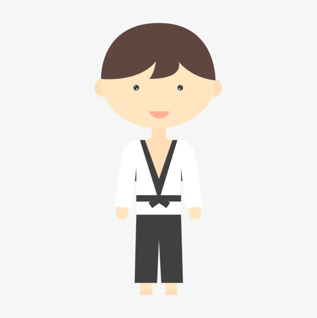 跆拳道卡通人物png素材下载_高清图片png格式(编号:)