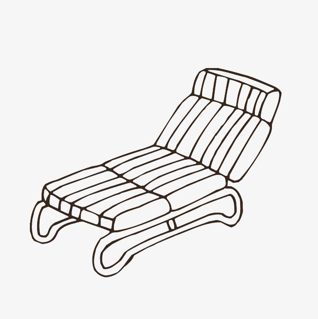 舒适沙发手绘图