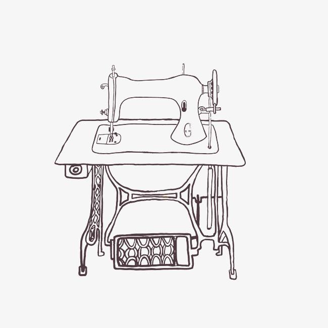 缝纫机手绘图