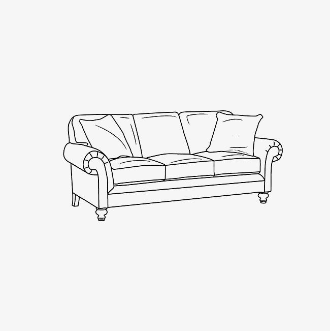 沙发简笔画