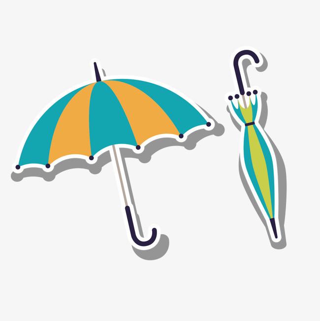 卡通手绘 雨伞 日常用品