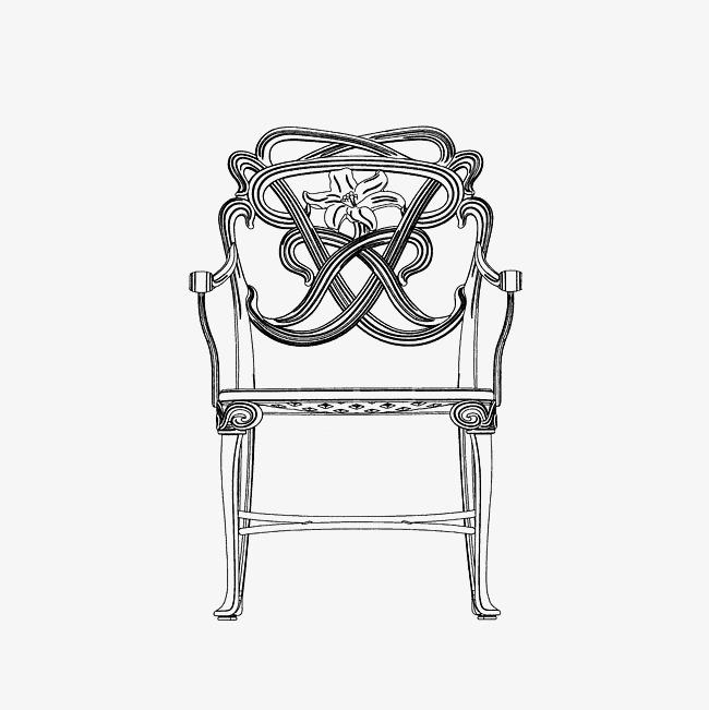 创意椅子手绘变形