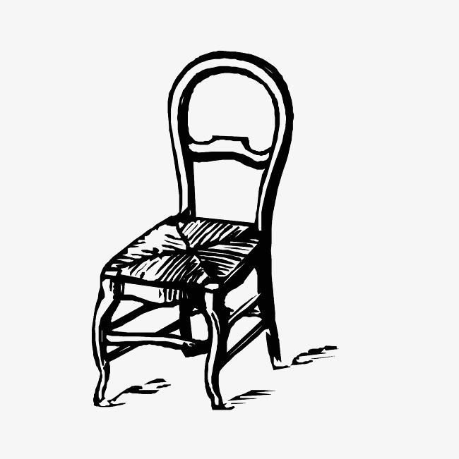 背靠椅手绘图