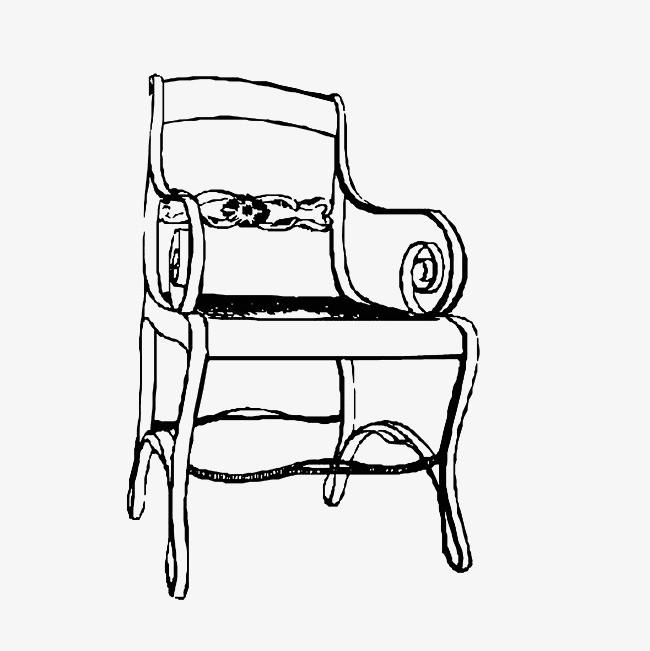 复古椅子手绘图
