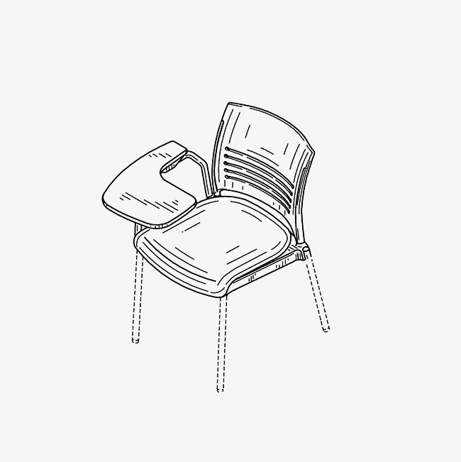 家居简笔画 椅子简笔会 手绘图 用途方便的椅子免扣素材