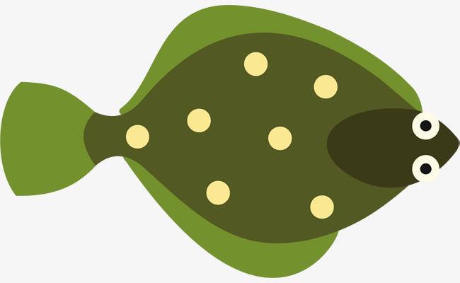 小清新绿色小鱼图片