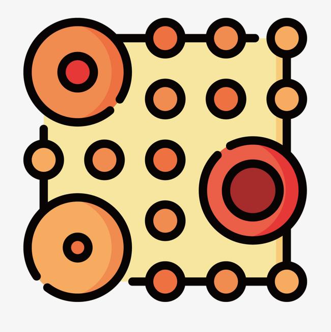 黄色圆点散布_png素材免费下载_ 1500*1500像素(编号