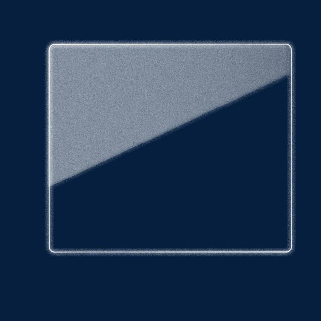 图片 边框纹理 > 【png】 白色荧光效果线框透明png
