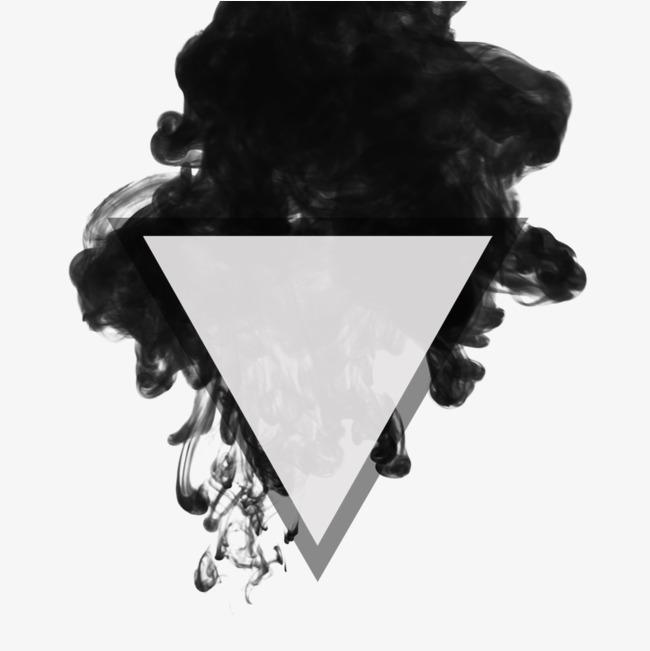 烟雾效果小三角装饰透明png