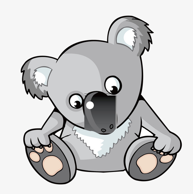 手绘可爱小熊摸脚
