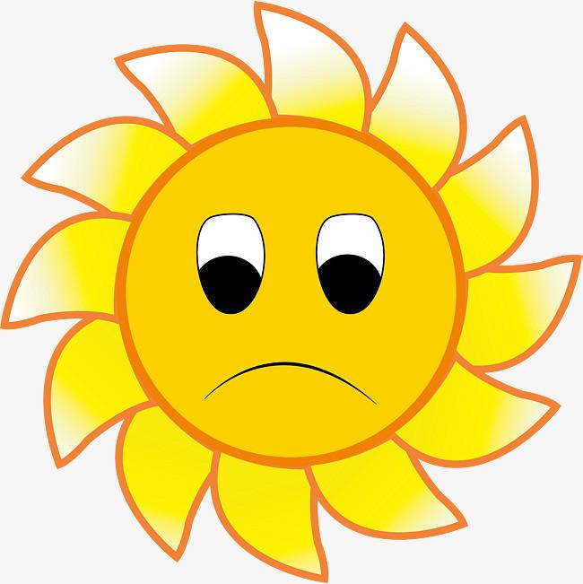 伤心的可爱太阳表情
