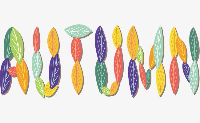 艺术树叶秋天商场字彩色外墙广告需要v艺术喷绘粘绳么图片