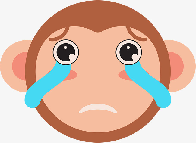 哭泣的小猴子表情图片