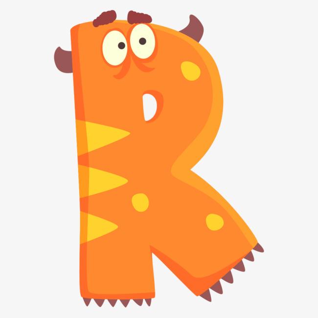 可爱动物表情字母r图片