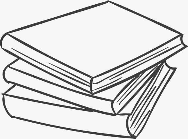手绘重叠的书本图片
