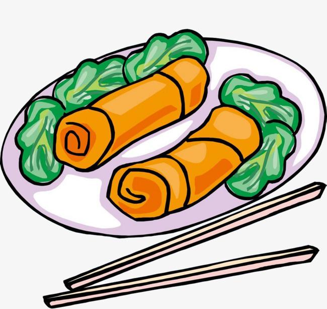 西式早餐美食简笔画食物