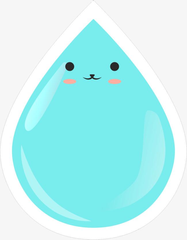 水滴 蓝色 表情包 卡通 手绘 矢量图 装饰 png装饰 png图形免扣素材