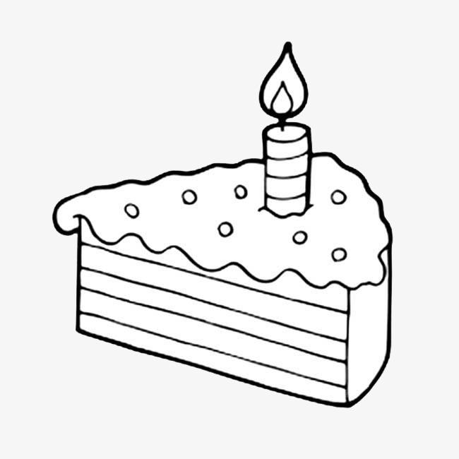 蛋糕简笔画食物图片