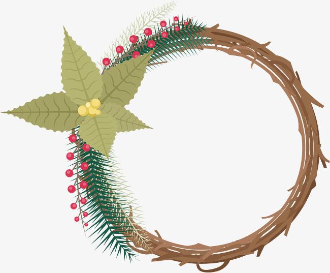 90设计提供高清png素材免费下载,本次树枝装饰花环作品为设计师≤创作