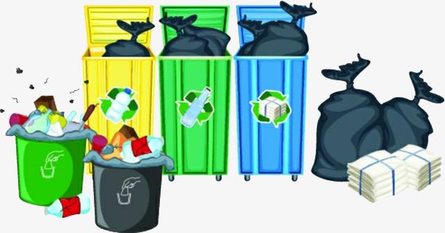 手绘垃圾桶垃圾场