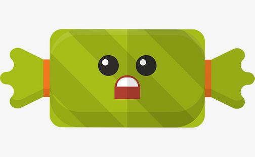 绿色表情包糖果图片