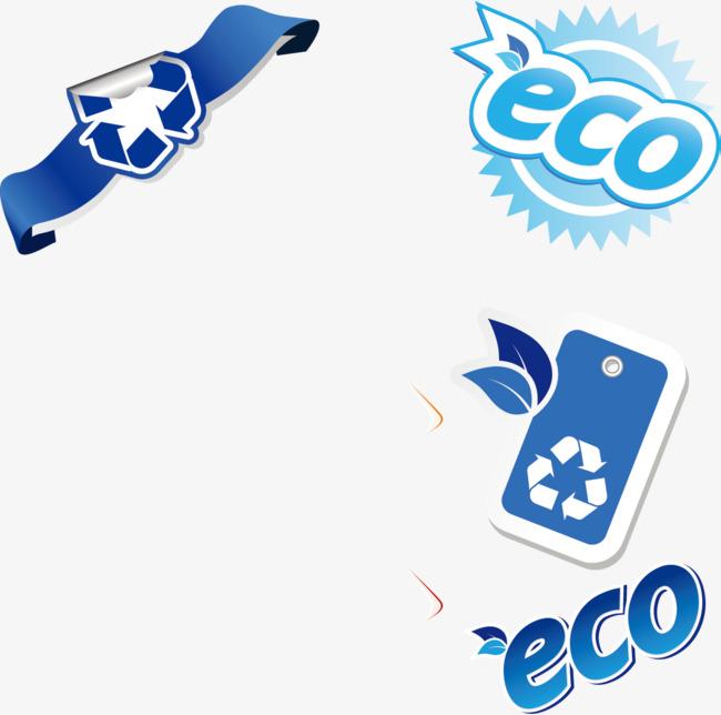手绘蓝色回收标志素材图片免费下载_高清psd_千库网