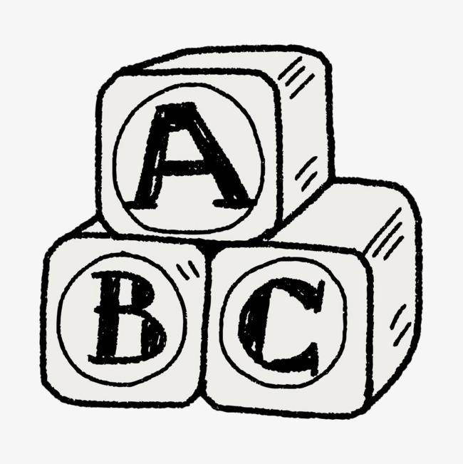 几何字母立体图形