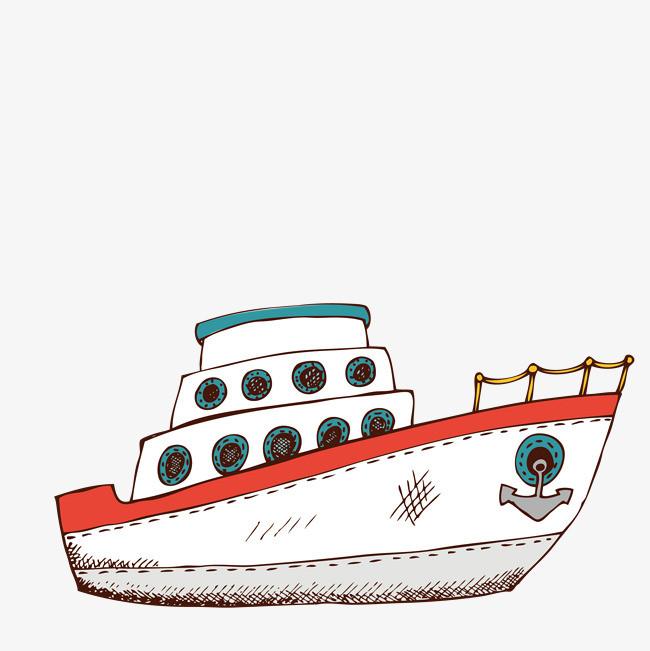 幼儿园美术作品轮船