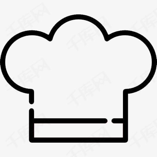 卡通手绘厨师帽子简笔画素材图片免费下载 高清png 千库网 图片编号9063987