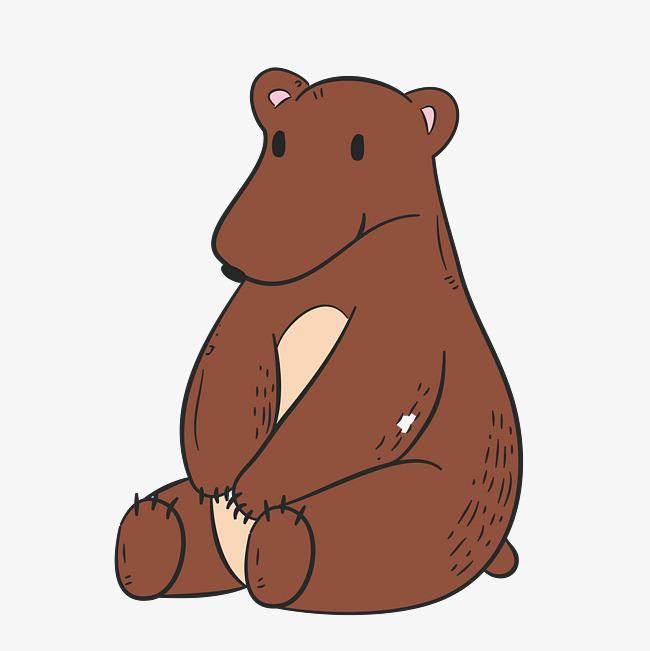 卡通狗熊简笔画_棕色狗熊