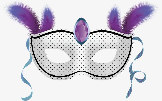 紫色舞会面具