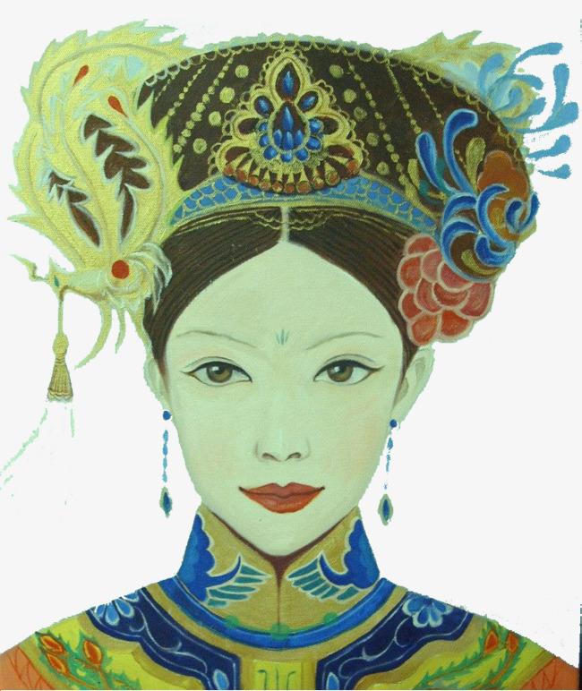 古代人物美女简笔画