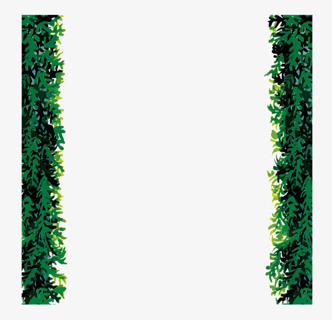 手绘树丛边框