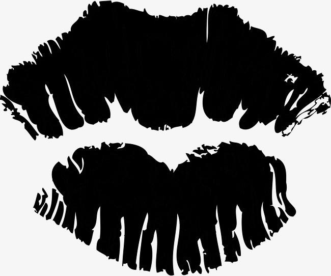 手绘嘴唇素材图